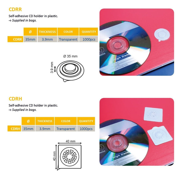 Adhesive CD Spider CD Holder CDRH CDRR-CD Dots-Hang and Display