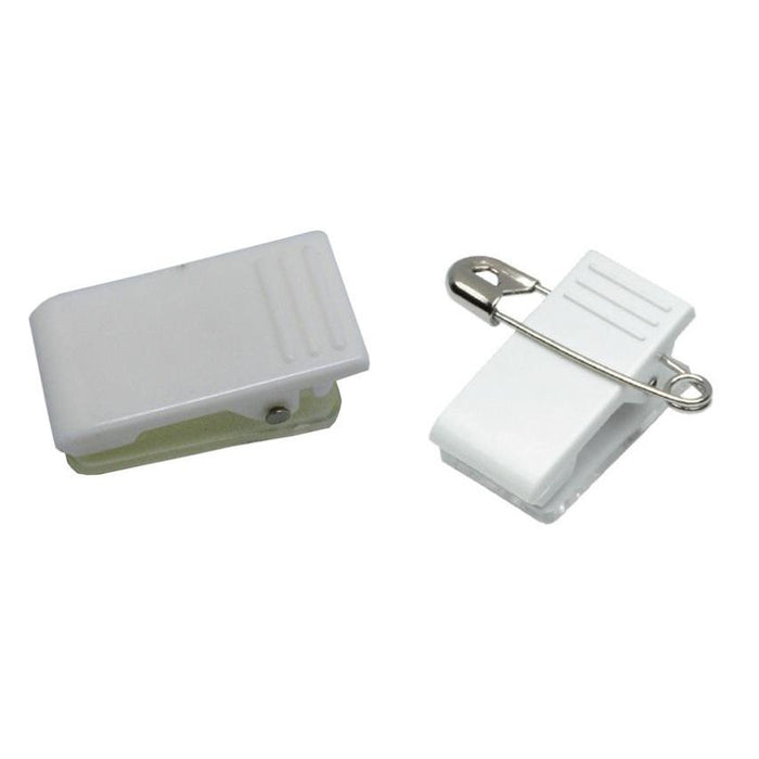 Adhesive Plastic Pin and Clip for Name Card Holder BAD1-Badge Holders-Hang and Display