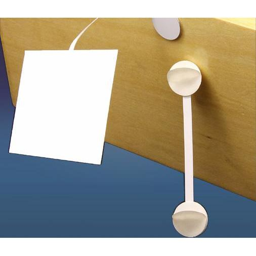 Aluminum Wobbler Stem White with 3 Adhesive Pads-Aluminum Wobblers-Hang and Display