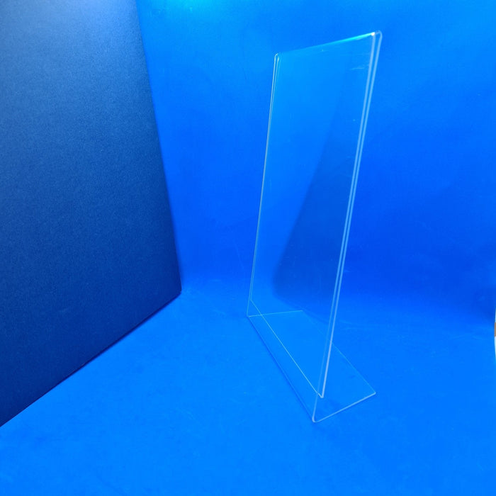 Angled Clear Counter Top Sign Holder & Menu Stand A3