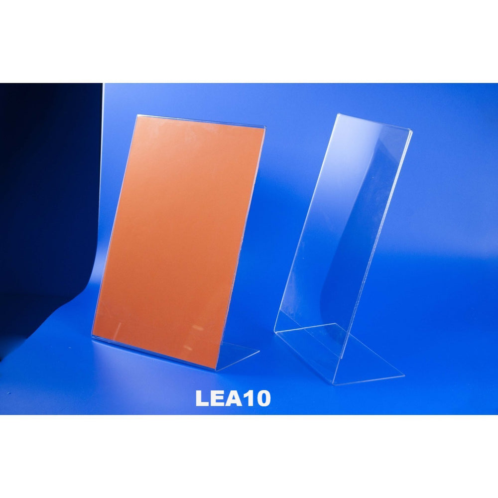 Acrylic Angled Sign Holder LEA10 - Hang and Display