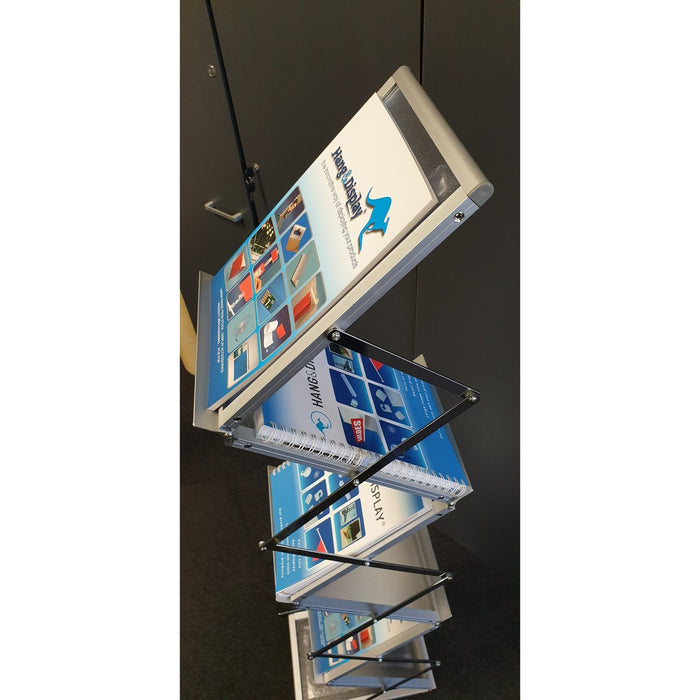Brochure Zig Zag Display Holder A4 with Carry Case BRO4-Leaflet Holders-Hang and Display