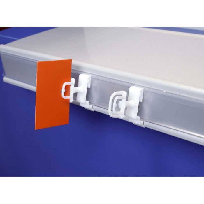 Bus Stop Wobbler Shelftalker Clip SHE5 SHE7-Shelf & Data Strip Aisle Blade Holders-Hang and Display