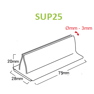 Card and Sign Holder 25mm Adhesive Base up to 3mm Capacity SUP25 SUP26-Supergrips-Hang and Display