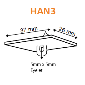Ceiling Hanger Plastic Hooks Adhesive Base HAN0 HAN1 HAN2 HAN3 HAN4-Ceiling Hanging Accessories-Hang and Display