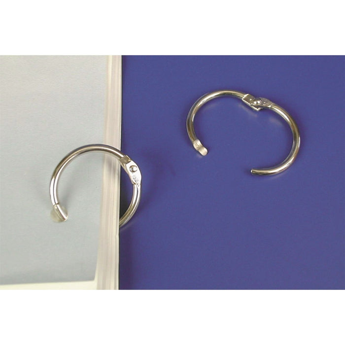 Chrome Finish Metal Locking Ring HOO14-Rings-Hang and Display