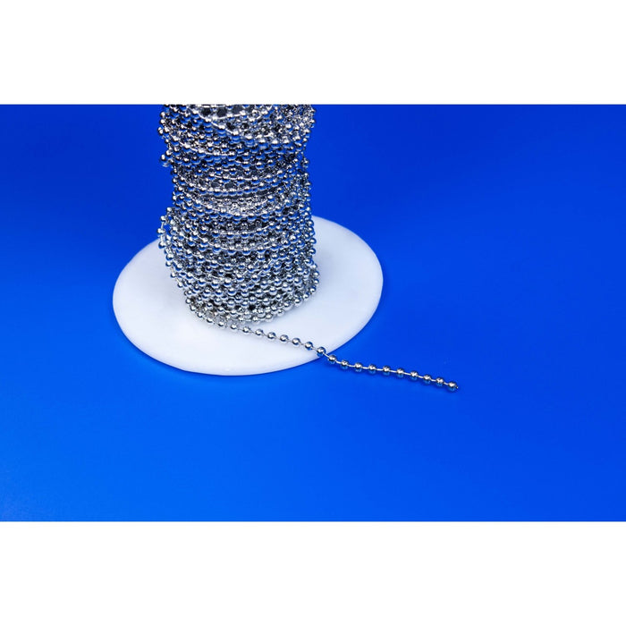 Chromed Metal Pearl Ball Chain Link Fastener CHA1 - Hang and Display