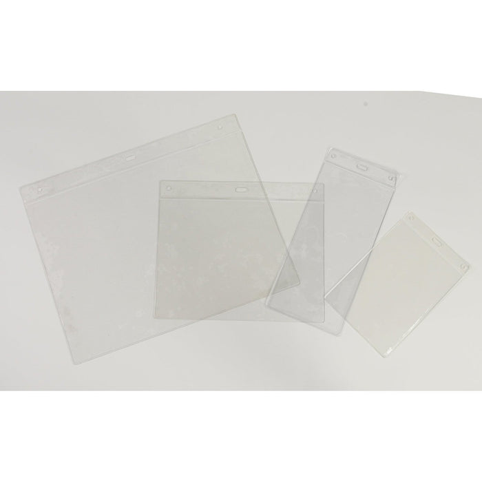 Clear PVC Pockets and Sleeves POC1-Non-adhesive Pockets-Hang and Display
