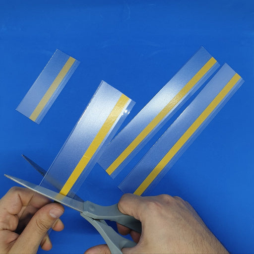 Clear Shelf Stripping Flat Data Strip Adhesive Anti Reflective