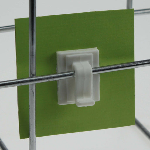 Clip Sign Holder for Wire Basket with Adhesive CLI23 - Hang and Display