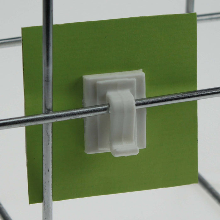 Clip Sign Holder for Wire Basket with Adhesive CLI23-Wire Basket Ticket Holders-Hang and Display