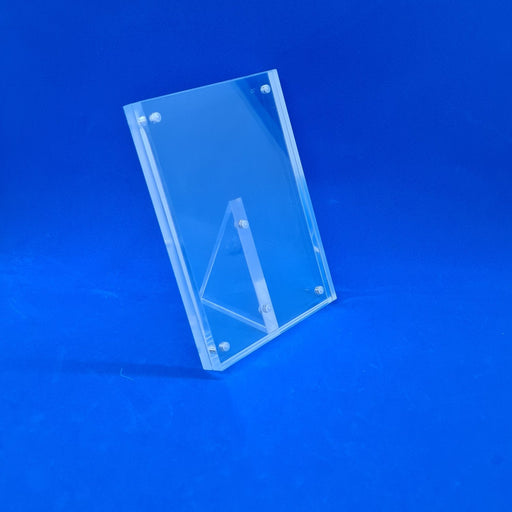Counter Top Premium Acrylic Sign Holder Magnetic Frame A6 Portrait