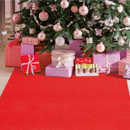 Decorative Christmas Carpet Red 1 and 2 Meter Widths x 10 Meter Length Roll