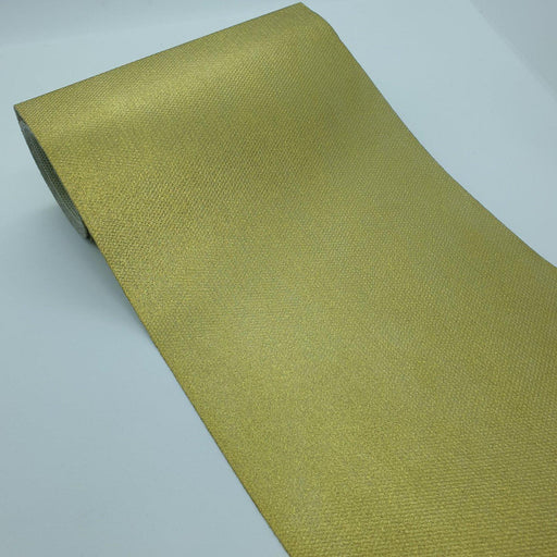 Decorative Christmas Wrap Fabric Gold 15 cm x 50 Meters