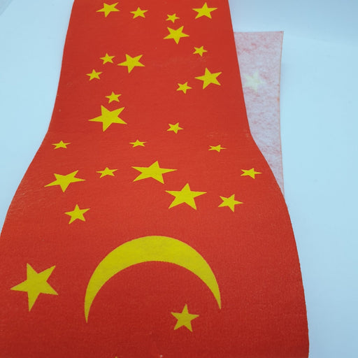 Decorative Christmas Wrap Fabric Moon and Stars 15 cm x 50 Meters
