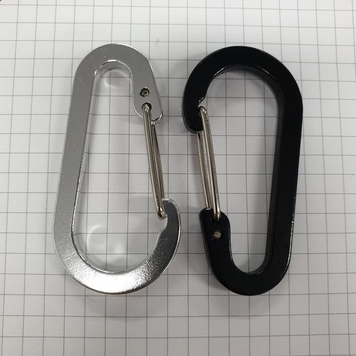 Decorative Metal Carabiner Clip- 60mm x 30mm Oval with Snap Hook-Attachments-Hang and Display