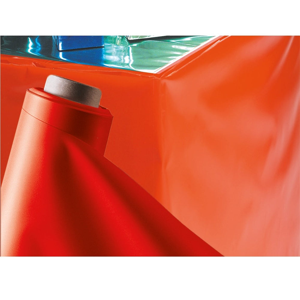 Decorative Thick Plastic Wrap Sheet Red 1.3 x 50 Meters