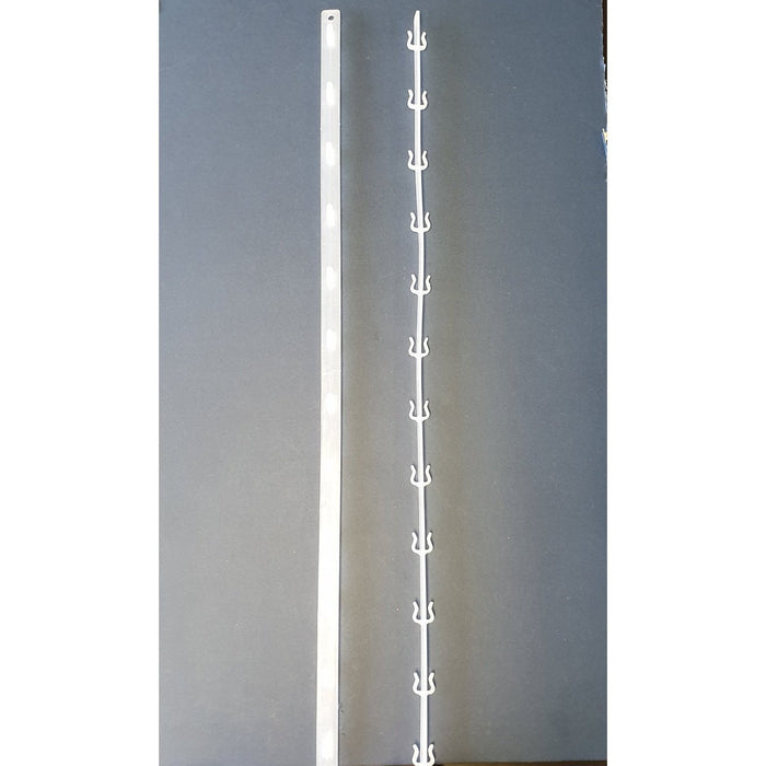 Double Sided Plastic Hang Strip 24 Station 720mm SEL11-Hang Strip-Hang and Display