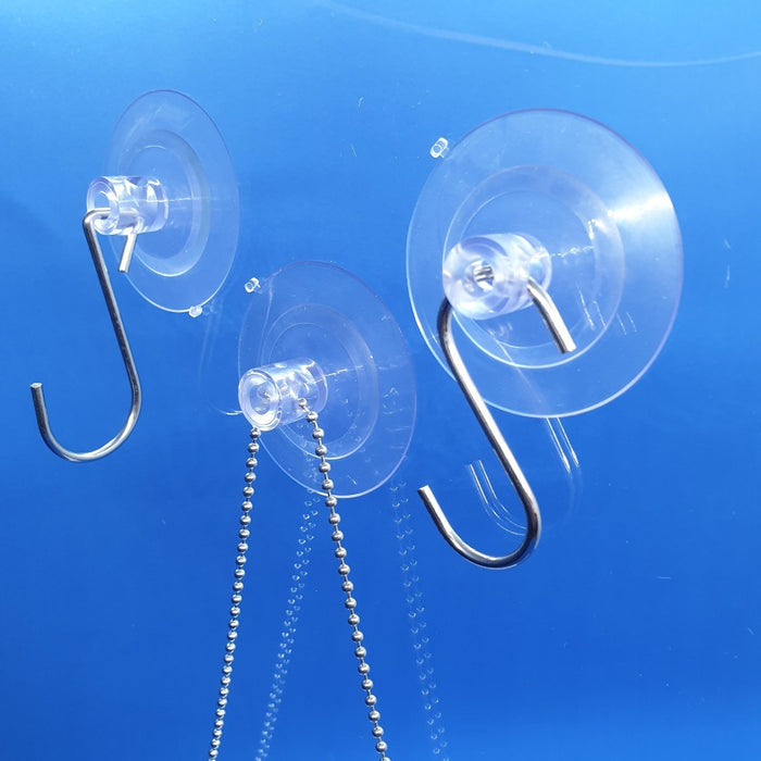 Double Suction Cup Transparent with Holes SUC50-Suction Cups-Hang and Display