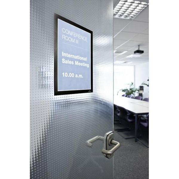 Duraframe Removable Adhesive Sign Holder Sleeve with Magnetic Closure POC4-Adhesive Pockets-Hang and Display