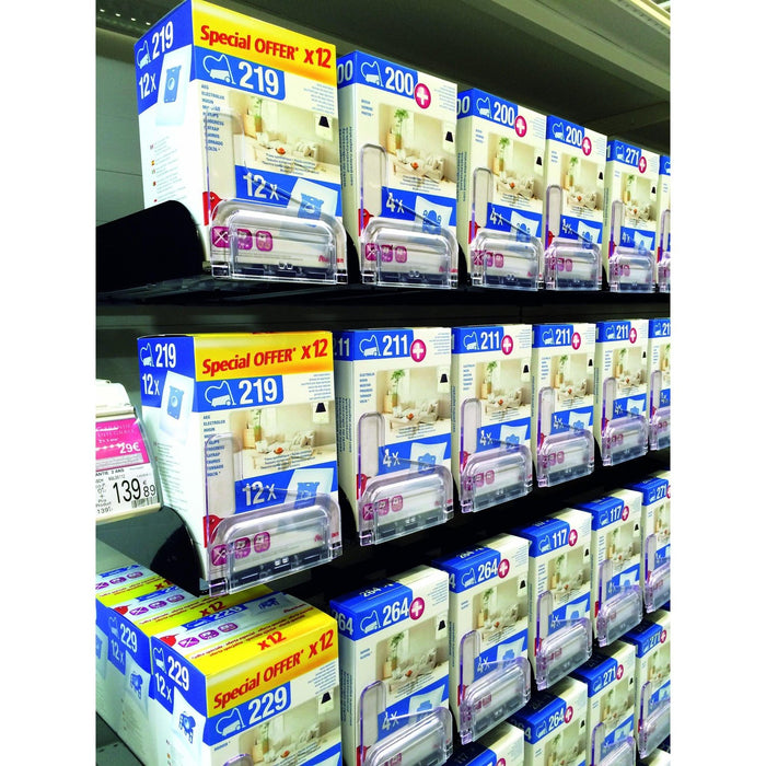 Easy Facing Merchandising Pusher Divider System for Crossbars-Merchandising-Hang and Display