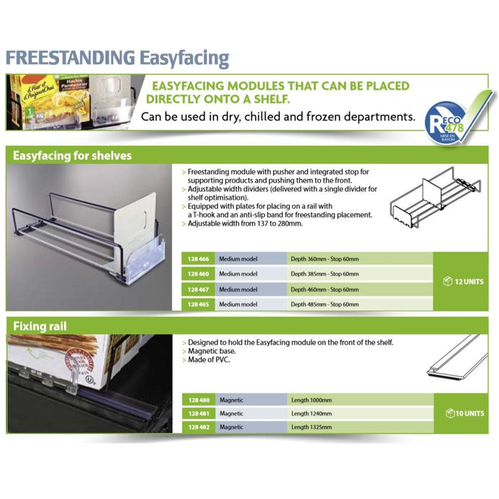 Easy Facing Merchandising Pusher Divider System for Shelves-Merchandising-Hang and Display