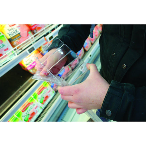 Easy Push Merchandising Pusher Divider System for Shelves - Hang and Display