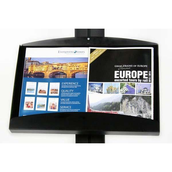 Free Standing A1 Snap Frame and Brochure Tray Combined Display APS-A1-BT-Pavement Signs-Hang and Display