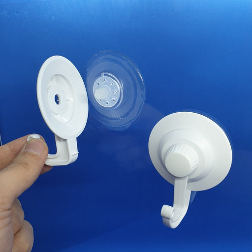 Heavy Duty Suction Cup White with Hook and Screw Lock SUC8 - Hang and Display