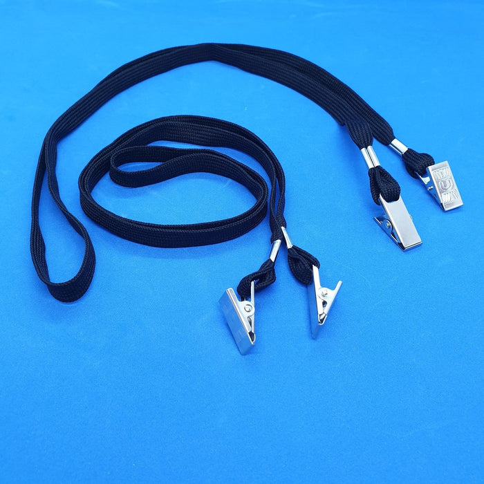 Lanyard with Spring Bulldog Clips on Both Ends
