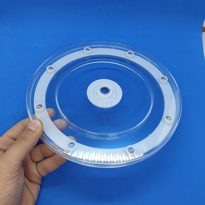 Lazy Susan Transparent Plastic Display Turntable with Ball Bearings