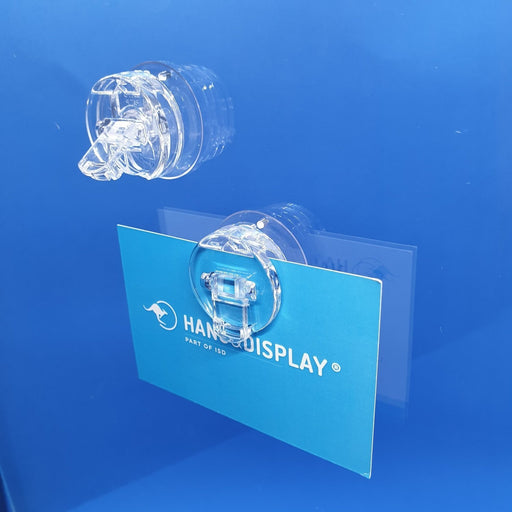 Leaflet Holder Suction Cup Transparent with Poster Clip SUC14-Suction Cups-Hang and Display