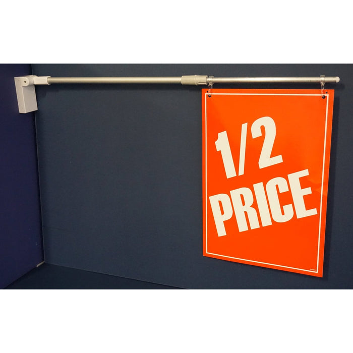 Magnetic Base Adjustable Angle and Length Banner and Sign Holder BAN14 - Hang and Display