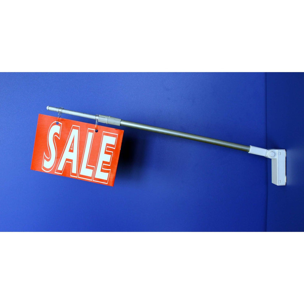 Magnetic Base Adjustable Angle and Length Banner and Sign Holder BAN14-Banner Holders-Hang and Display
