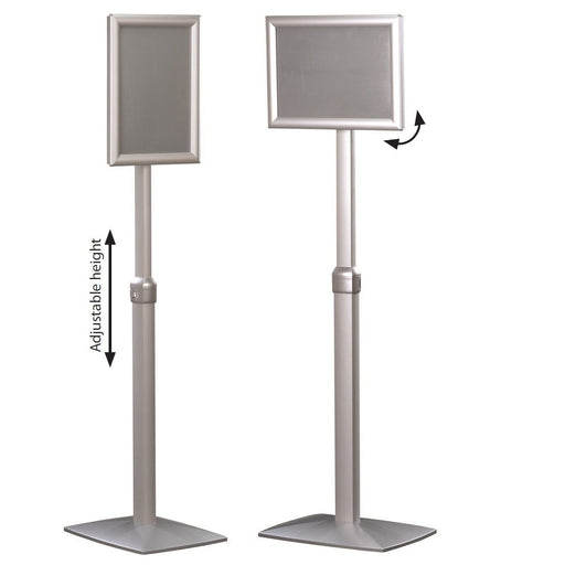 Menuboard Sign Holder Stand with Adjustable Height and Flexible Angle