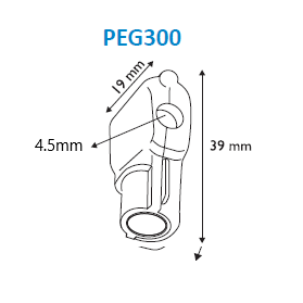 Merchandising Hook Security Lock PEG300-Anti-theft systems for hooks-Hang and Display