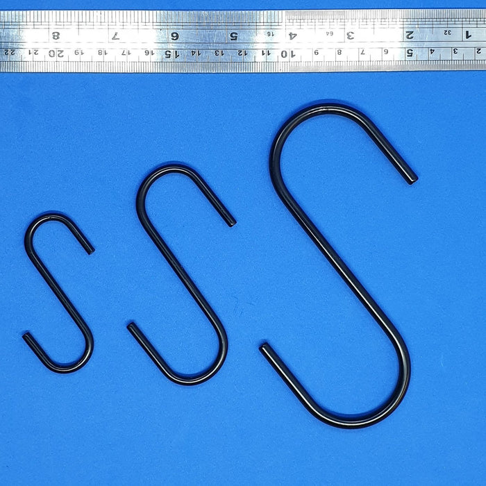 Metal S Hook Powder Coated Steel Wire Large Hanging Hooks-Hooks-Hang and Display