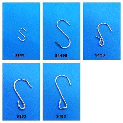 Metal S Hook S149 S149B S150 S153 S180 - Hang and Display
