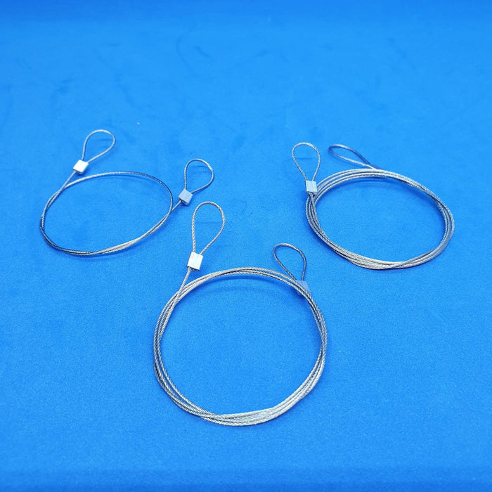 Metal Wire Cable with Looped Ends for Hanging Items-Ceiling Hanging Accessories-Hang and Display