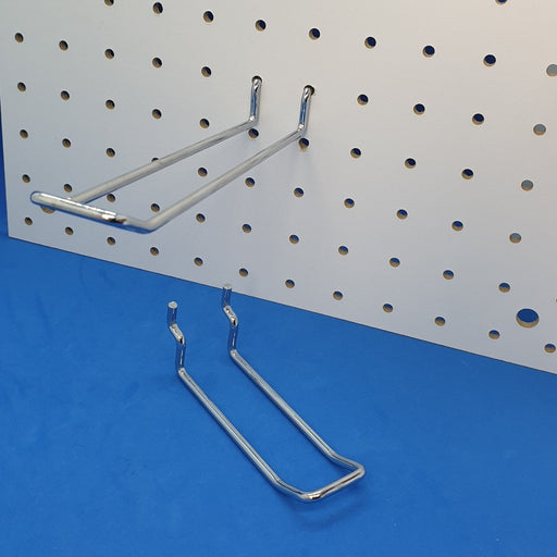 Pegboard and Slatwall Double Prong Loop Metal Merchandising Hook PEG16-Metal Pegboard Hooks-Hang and Display