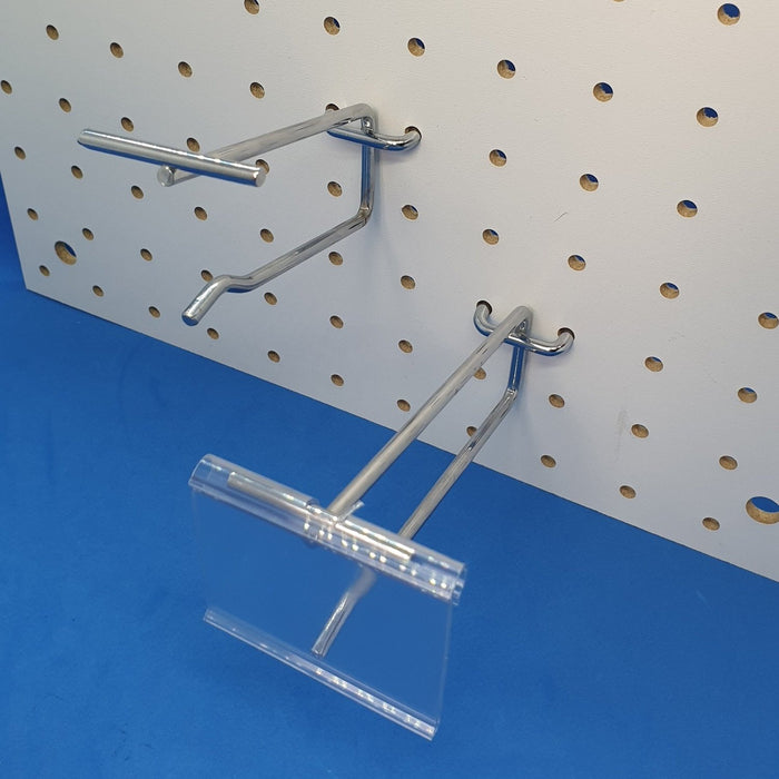 Pegboard and Slatwall Flipscan Metal Merchandising Hook PEG14SCAN - Hang and Display