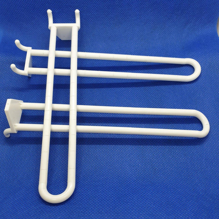 Pegboard Double Prong Loop Plastic Merchandising Hook PEG6 PEG7-Plastic Pegboard Hooks-Hang and Display