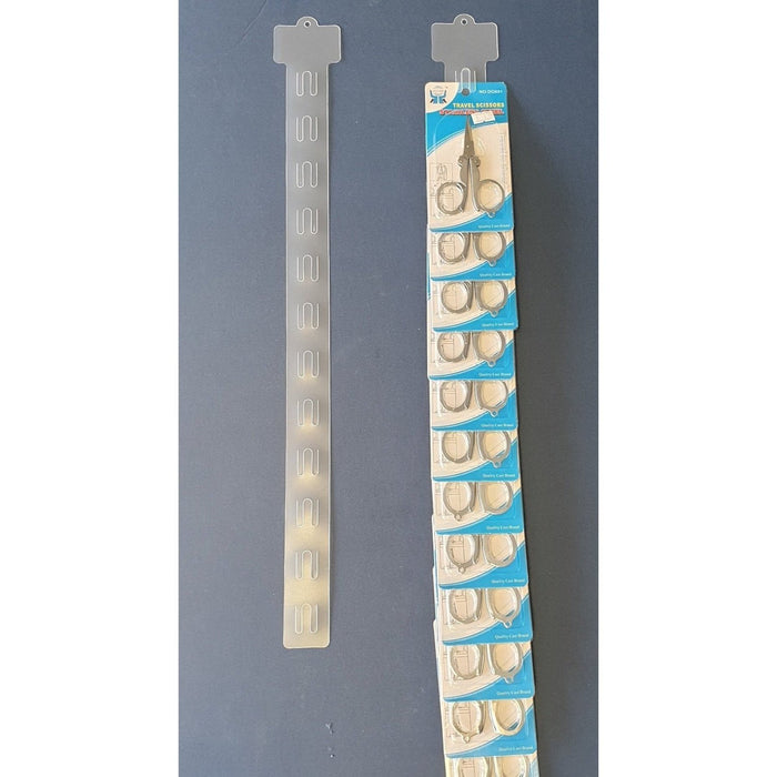 Plastic Hang Strip 12 Station 600mm H125 - Hang and Display