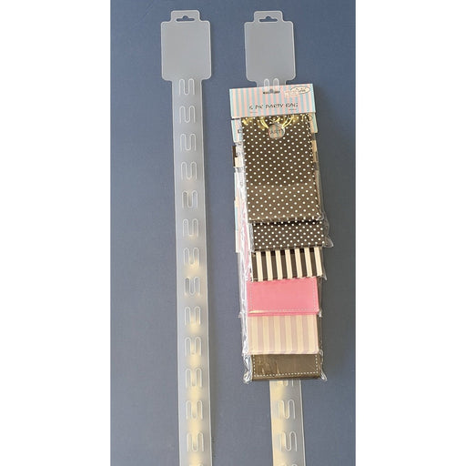 Plastic Hang Strip 18 Station 925mm H188-Hang Strip-Hang and Display