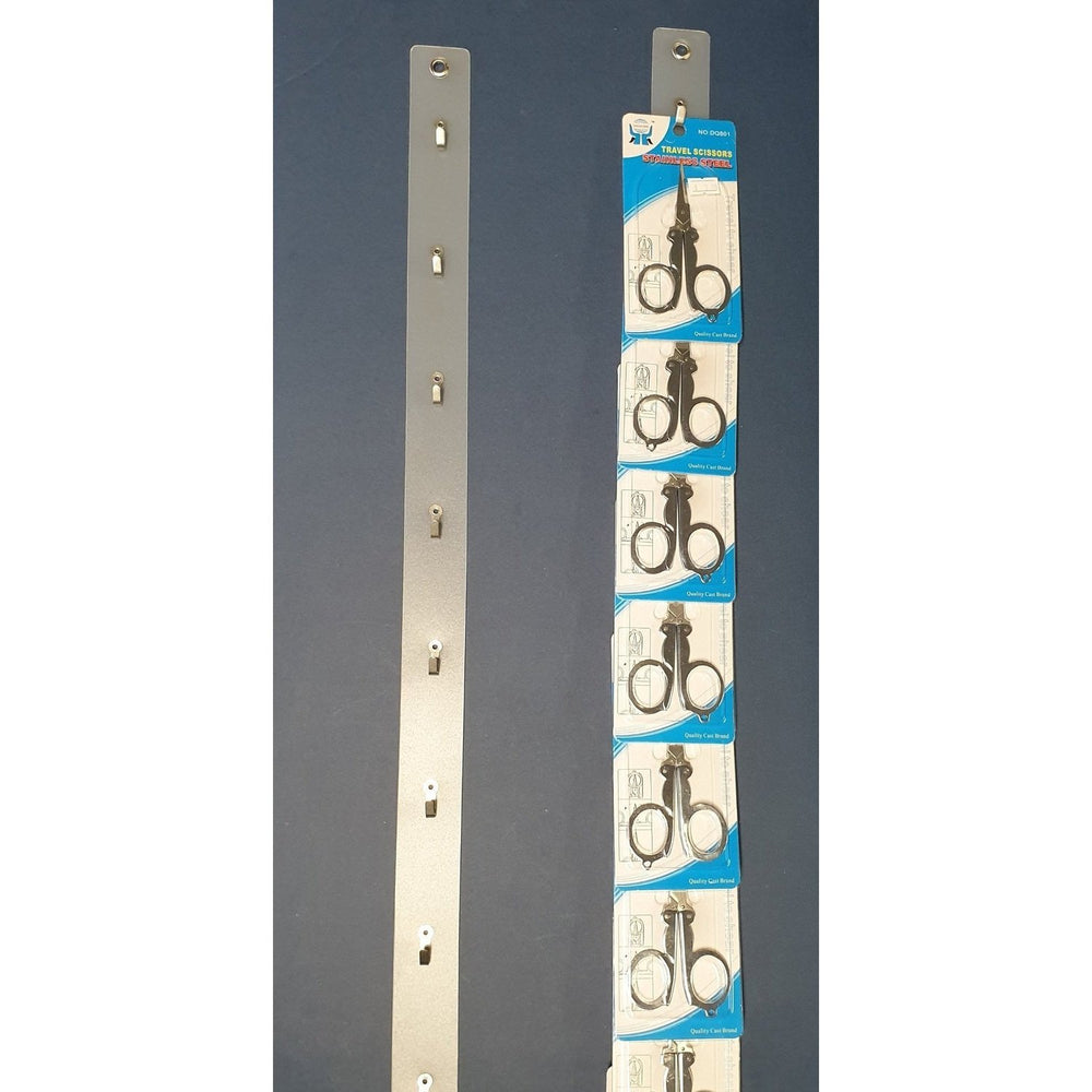Plastic Hang Strip with 8 Metal Hooks 730mm STR301 - Hang and Display