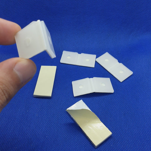 Plastic Hinge with Adhesive and Holes COR14-Corrugated Cardboard Display Accessories-Hang and Display