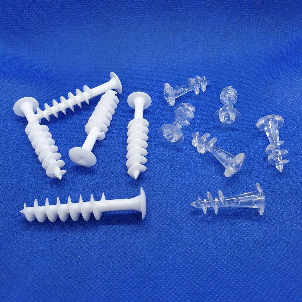 Plastic Screw for Cardboard and Polystyrene COR18 COR19-Corrugated Cardboard Display Accessories-Hang and Display