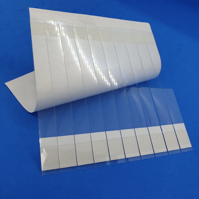Plastic Transparent Shelf Wobblers with Adhesive Pads on Sheets WOB55188-Wobblers-Hang and Display