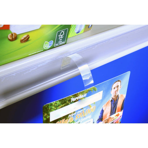 Plastic Transparent Shelf Wobblers with Adhesive Pads WOB1 - Hang and Display