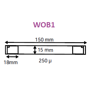 Plastic Transparent Shelf Wobblers with Adhesive Pads WOB1-Wobblers-Hang and Display